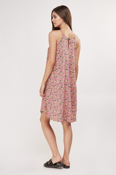 Mix Pineapple Print Tent Dress