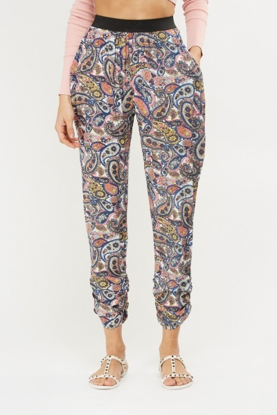 Paisley Print Light Weight Trousers