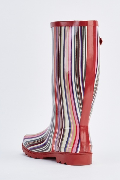 Candy Stripe Wellington Boots