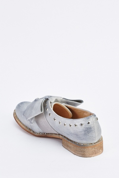 Metallic Bow Front Oxford Brogues
