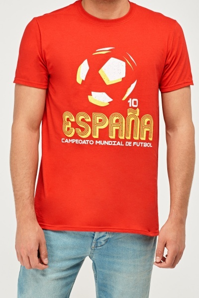 Spain Football Graphic T-Shirt