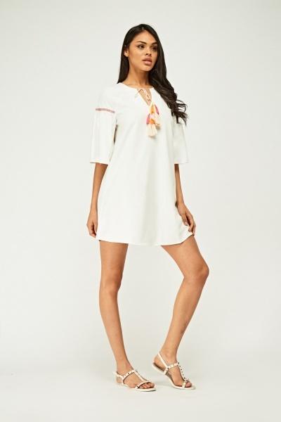 Short Sleeve Tunic Dress