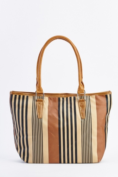 Mixed Striped Tote Bag