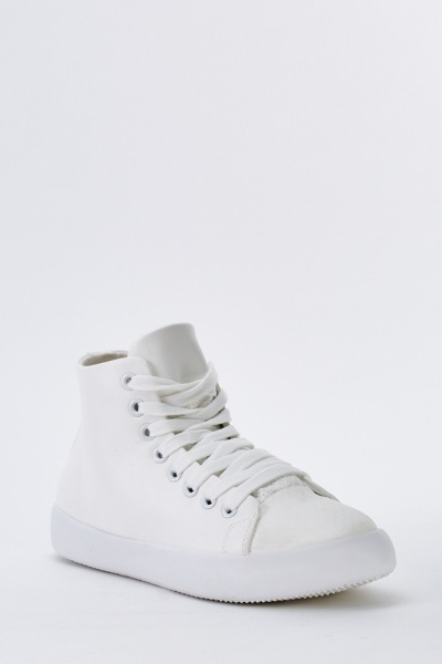 Lace Up High Top Plimsolls