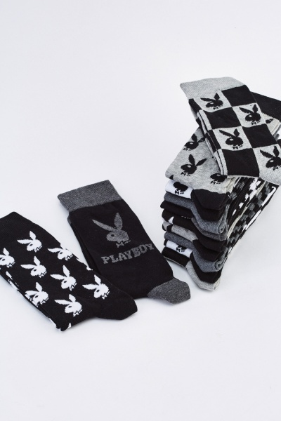 12 Pairs Of Playboy Socks