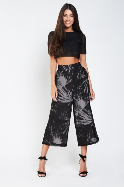 Pleated Sheer Crop Top