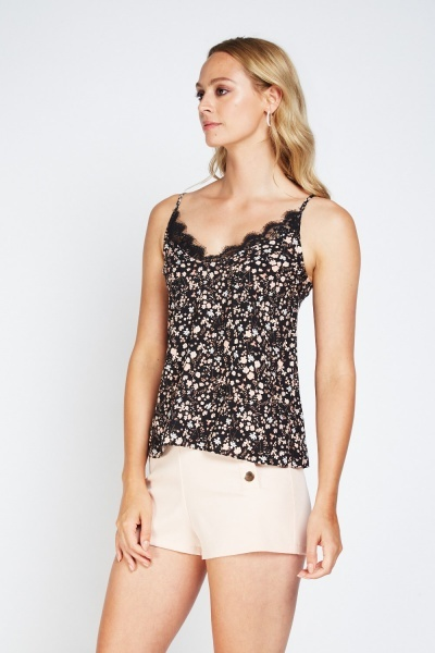 Ditsy Floral Lace Camisole Top