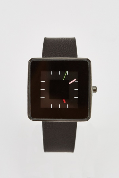 Square Face Contrast Watch