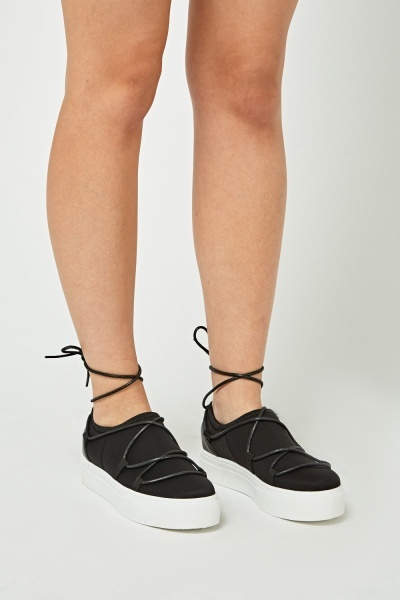 Chunky Tie Up Shoes