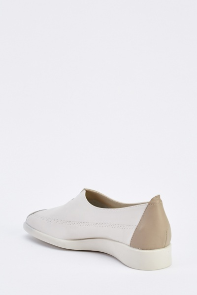 Leather Upper Slip On Shoes