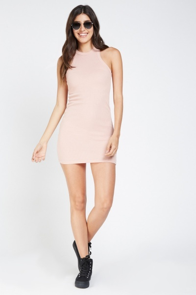 Basic Halterneck Jersey Dress
