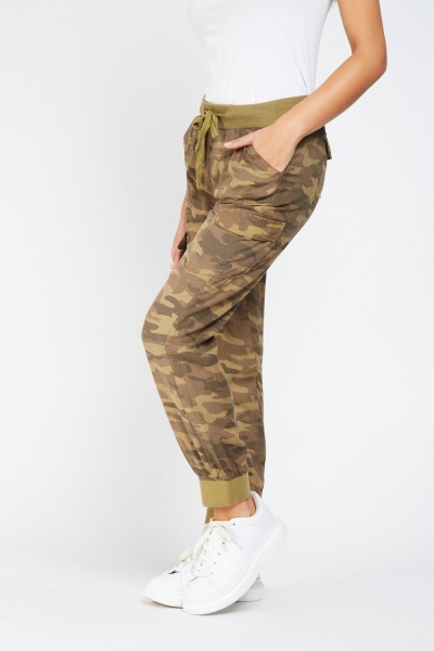 Casual Camouflage Print Joggers
