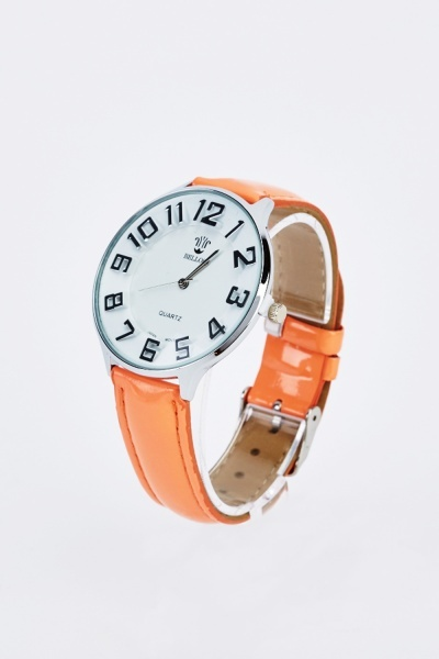 Large Face Strap Watch
