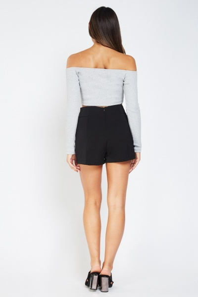 Embellished Side Shorts