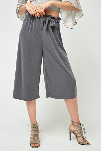 Gathered Wide Leg Culottes