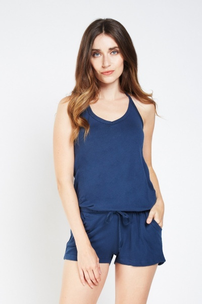 Tie Up Halterneck Playsuit