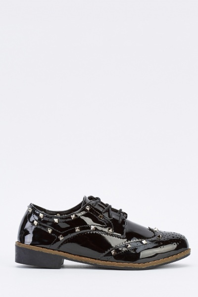 PVC Studded Lace Up Brogues