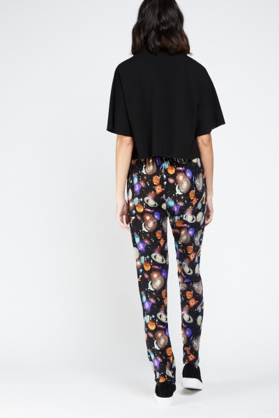 Galaxy Printed Tapered Trousers