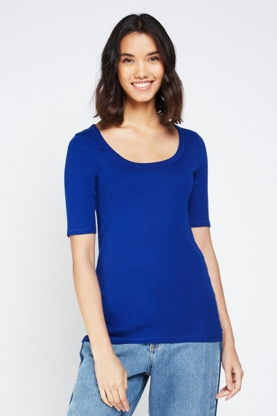 Pack Of 2 Basic Scoop Neck Top