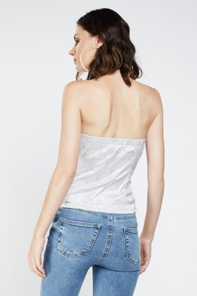 Bandeau Detailed Sateen Corset
