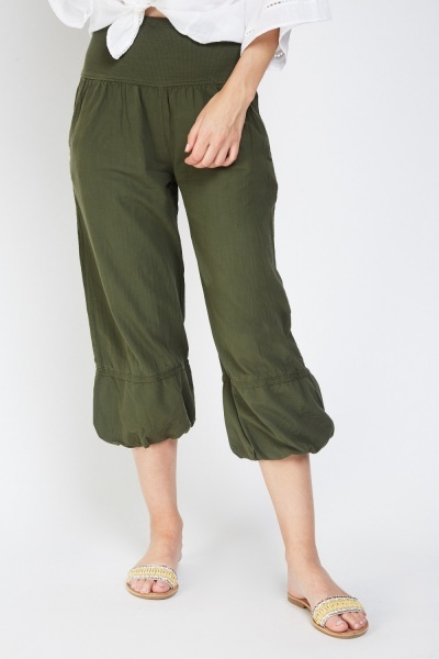 Casual Crop Length Combat Trousers