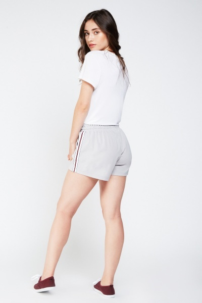 Striped Side Contrast Shorts