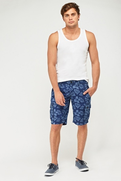 Flower Printed Mens Shorts