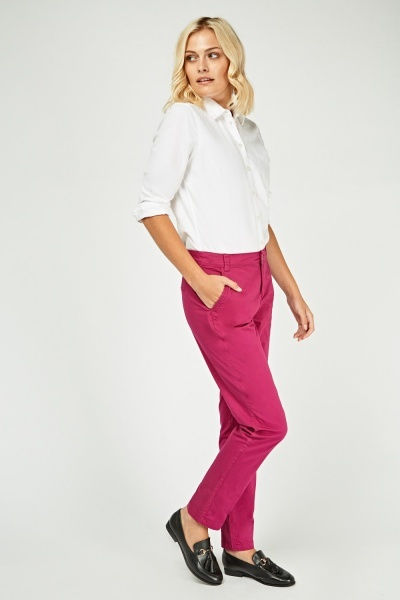 Low Rise Slim Fit Chinos