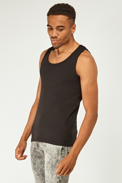 Pack Of 3 Jersey Vest Tops