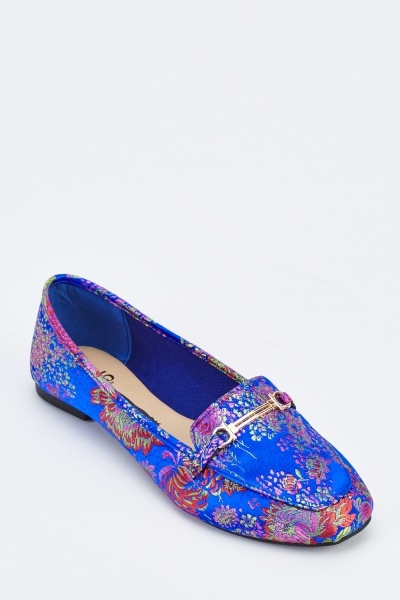 Embroidered Flat Loafers