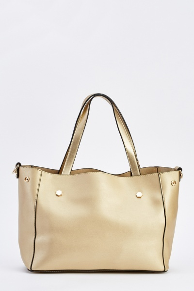 Metallic Tassel Trim Tote Bag
