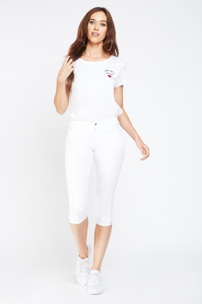 Low Rise Cropped Capri Jeans