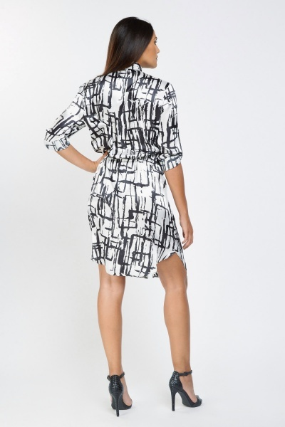 Monochrome Print Steen Shirt Dress