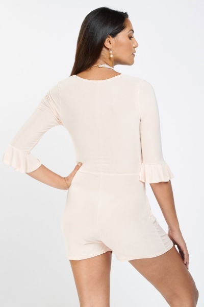 Ruched Side Wrap Playsuit