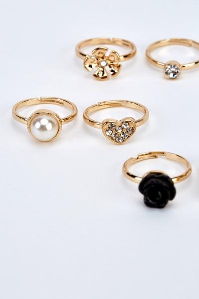 Set Of 6 Mixed Rings