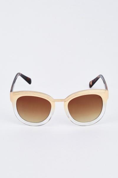 Butterfly Beige Sunglasses