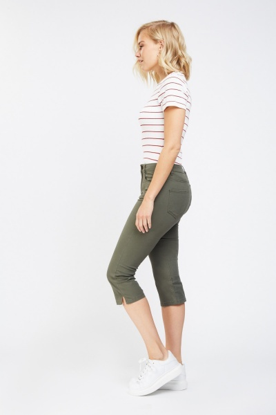 Low Rise Capri Casual Jeans