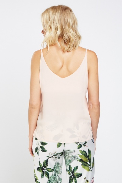 V-Neck Sheer Camisole Top
