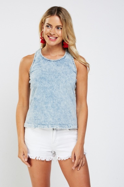 Faded Speckled Tank Top