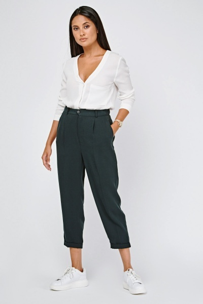 High Waist Tapered Trousers