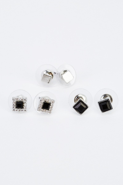 Pack Of 3 Mixed Earrings