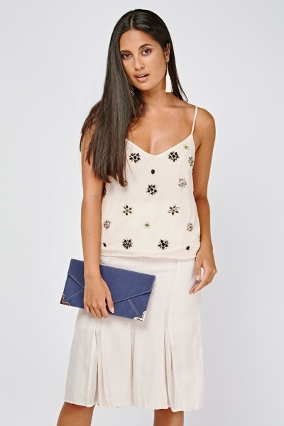 Sequin Embellished Camisole Top