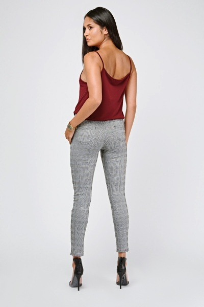 Skinny Fit Glen Check Leggings