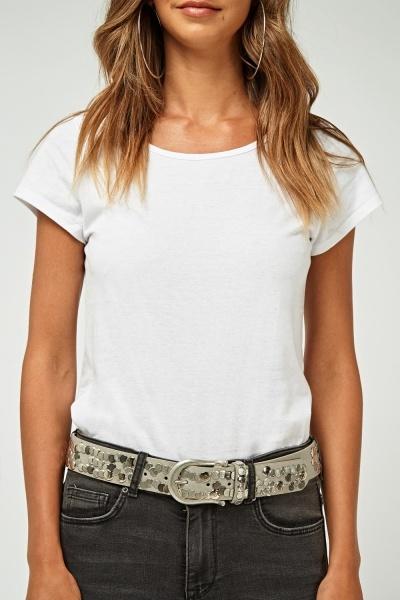 Embellished Buckled Belt