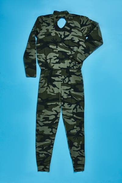 Camouflage Keyhole Jumpsuit