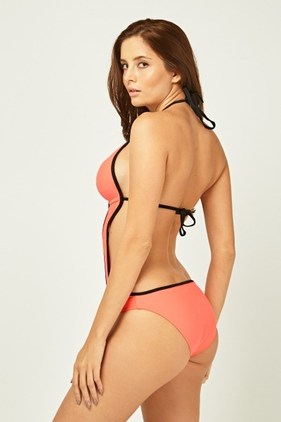 Cut Out Plunge Swimsuit