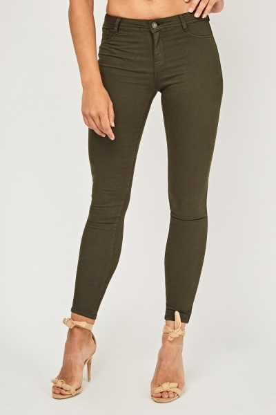 Low Rise Skinny Denim Jeggings