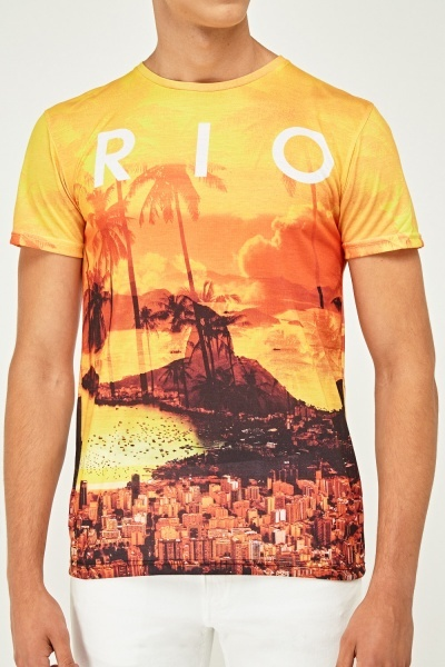 Tropical City Print T-Shirt