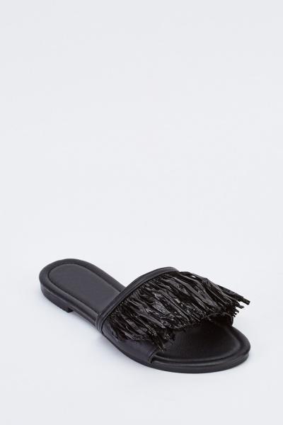 Fringed Open Toe Sandals