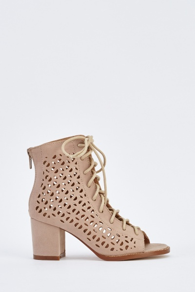 Open Toe Laser Cut Shoes